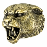 Panther Mascot Antique Brass Pin