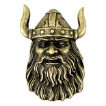 Viking Mascot Antique Brass Pin
