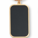 BLACK AND GOLD KEY RING, BOXED