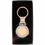 GOLD AND SILVER KEY RING, BOXED