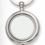 ROUND SILVER KEYRING, BOXED