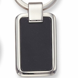 BLACK AND SILVER KEY RING, BOXED