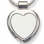 HEART SILVER KEY RING BOXED