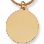 SPLIT KEY RING WITH MEDAL GOLD