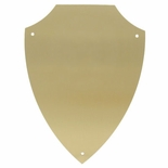 5-1/4 X 6-5/8 BRASS SHIELD