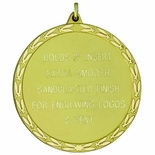 2-3/8 INCH MEDAL FOR ENGRAVING OR HOLDS 2 INCH INSERT - MULTIPLE COLORS