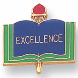 EXCELLENCE PIN ENAMELED, GOLD