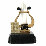 MUSIC LYRE TROPHY WITHOUT PLATE