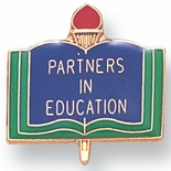 PARTNERS IN EDUCATION PIN GOLD