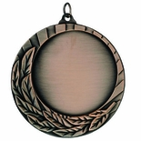 2-3/4 DIE CAST MEDAL HOLDS 2 INCH INSERT - MULTIPLE COLORS