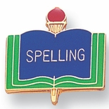 SPELLING PIN ENAMELED, GOLD