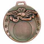 2 INCH DIE CAST MEDAL FRAME HOLDS 1 INCH INSERT - MULTIPLE COLORS