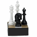 CHESS BOARD WITH FIGURES TROPHY WITHOUT PLATE