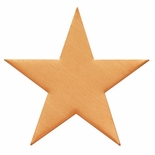 1-1/2 SATIN BRASS SHAPE STAR