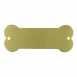 3-1/4 X 1-1/4 SATIN BRASS DOG BONE PLATE