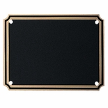 3 X 4 INCH BLACK SCREENED BRASS PLATE