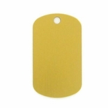 GOLD ALUMINUM DOG TAG
