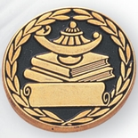 LAMP OF LEARNING PIN & SCROLL