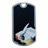 LAMP OF LEARNING DOG TAG