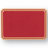 4 X 6 RED SCREENED PLATE
