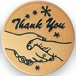 THANK YOU, 2 INCH ETCHED ENAMELED