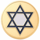 STAR OF DAVID, 2 INCH ETCHED ENAMELED