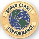 WORLD CLASS PERFORMANCE, 2 INCH ETCHED ENAMELED