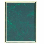 6 X 8 INCH GREEN MARBLEIZED PLATE