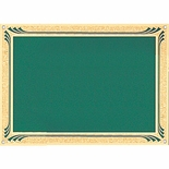 5 X 7 GREEN SCREENED PLATE