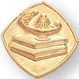 LAMP OF LEARNING GOLD PIN