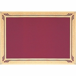 7 X 10 BURGANDY SCREENED PLATE