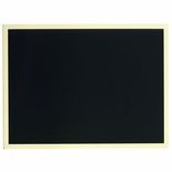6 X 8 INCH BLACK SCREENED PLATE, ADHESIVE BACK
