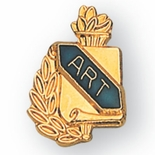 ART PIN GOLD & ENAMELED