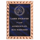 6 X 8 BLUE PLATE EMBOSSED