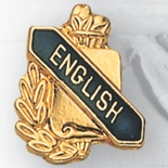 ENGLISH PIN GOLD ENAMELED