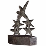 8-3/8 BLACK RESIN STAR TROPHY