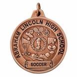 1-1/2 INCH ALL SPORT MEDAL/SCROLL FOR IMPRINT