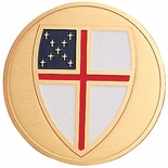 EPISCOPAL, 2 INCH ETCHED ENAMELED