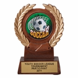 5-1/4 INCH RESIN TROPHY, TAKES 2 INCH INSERT