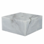 4 X 4 X 2  MARBLEIZED WHITE BASE