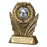 6 INCH RESIN WREATH TROPHY, TAKES 2 INCH INSERT