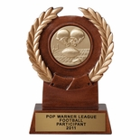 6-1/4 INCH RESIN TROPHY, TAKES 2 INCH INSERT