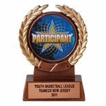 4-1/4 INCH RESIN TROPHY, TAKES 2 INCH INSERT