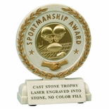 5-1/2 INCH SPORTSMANSHIP RESIN TROPHY WITHOUT PLATE