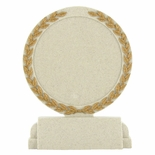 5-1/2 INCH STONE RESIN TROPHY PLAIN CENTER