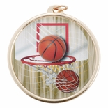 BASKETBALL MEDAL WITH 2 INCH MYLAR