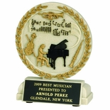 5-1/2 INCH MUSIC ORCHESTRA STONE RESIN