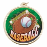 BASEBALL MEDAL WITH 2 INCH MYLAR