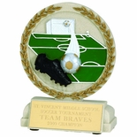 5-1/2 INCH SOCCER STONE RESIN TROPHY