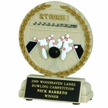 5-1/2 INCH BOWLING STONE RESIN TROPHY